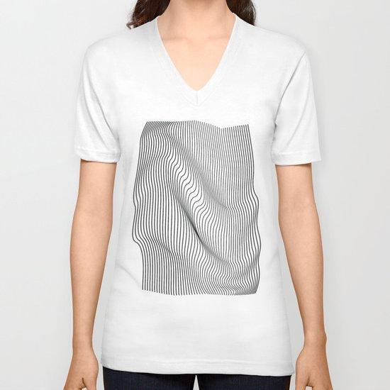 Minimal Curves V-neck T-shirt