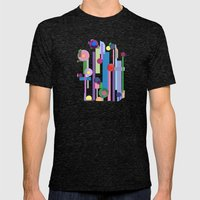 Plink (see also Plink Cherry and Plink Purple) Mens Fitted Tee Tri-Black SMALL