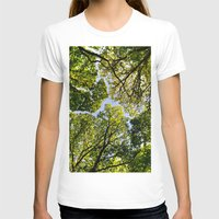 The Forest Womens Fitted Tee White SMALL