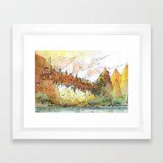 La Citta' Ponte Framed Art Print