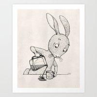 A Little Crooked Art Print
