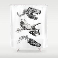 Jurassic Bloom. Shower Curtain