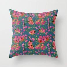 April blooms(Bougainvillea_blue) Throw Pillow