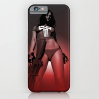 iPhone & iPod Case featuring Lady Punisher by Matthew Bartlett