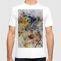 painting marbles Mens Fitted Tee White SMALL