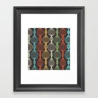 Geo Bulbs Framed Art Print