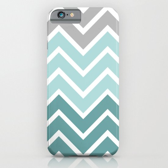 THIN BLUE FADE CHEVRON iPhone & iPod Case