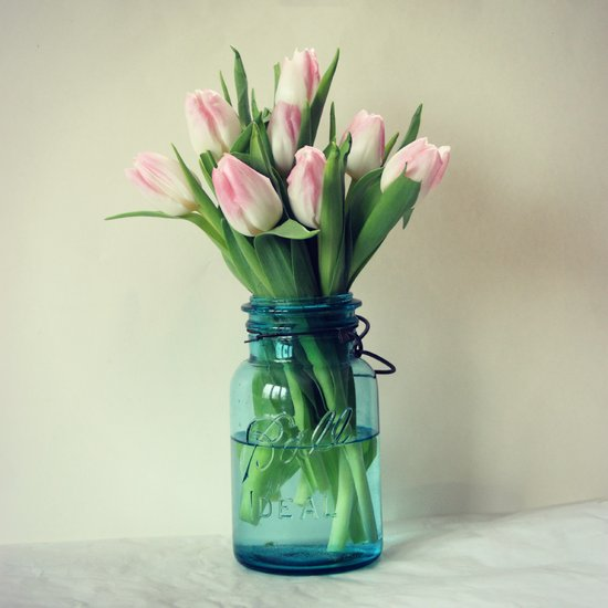 Mason Jar Spring Tulips Art Print