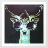 Deer In Headlights Art Print