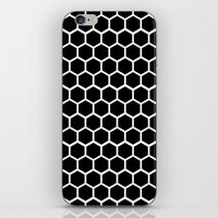 Graphic_Cells Black&Whit… iPhone & iPod Skin