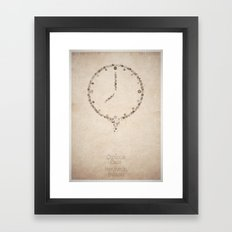 The Curious Case of Benjamin Button - minimal poster Framed Art Print