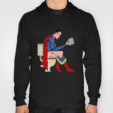 Superhero On Toilet Hoody