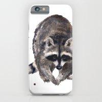 RACOON painting, wilderness nursery art, woodland animal art, racoon watercolor, cute racoon print iPhone 6 Slim Case