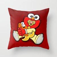 Baby Elmo & Dorothy Throw Pillow