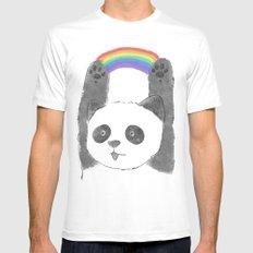 panda beam White SMALL Mens Fitted Tee
