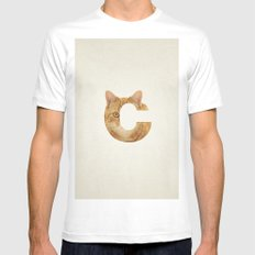 C. Mens Fitted Tee White SMALL
