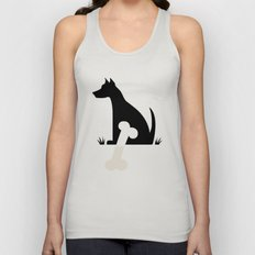 Gave a Dog a Bone (Green) Unisex Tank Top