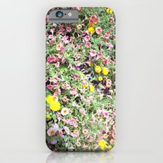 pink and yellow flowers iPhone 6 Slim Case