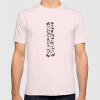 letter I - insects Mens Fitted Tee Light Pink SMALL