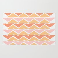 triangle sunset Rug