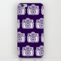 I Still Shoot Film Holga Logo - Reversed Deep Purple iPhone & iPod Skin