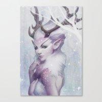 Reindeer Princess Canvas Print