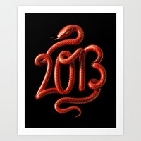 2013 - Year of the Snake Art Print
