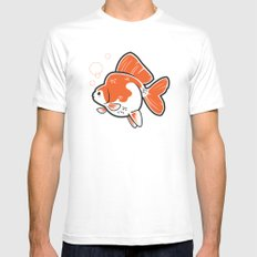 Ryukin Goldfish White Mens Fitted Tee SMALL