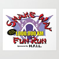 Snake Way Fun Run Art Print