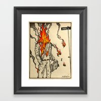 Spontaneous Combustion Framed Art Print