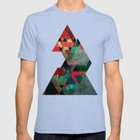 Abstract 09 Mens Fitted Tee Tri-Blue SMALL