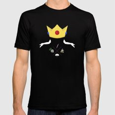 Peach Mens Fitted Tee Black SMALL