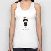 Black Tea Girl Unisex Tank Top