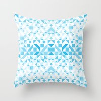 Geomtric Pastel Wave Throw Pillow