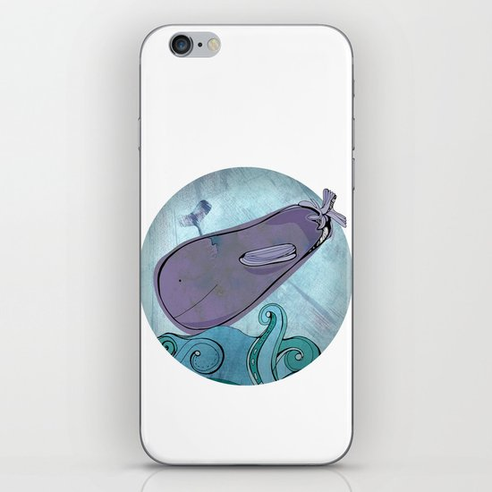 Eggplant Whale iPhone & iPod Skin