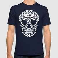 Skull Mens Fitted Tee Navy SMALL