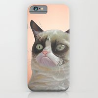 grumpy-cat-Orange iPhone 6 Slim Case