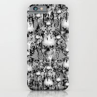 Victorian gothic lace skull pattern iPhone 6 Slim Case