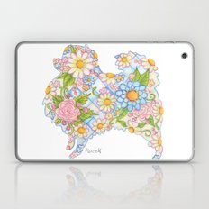 Pretty Blue Pomeranian Laptop & iPad Skin