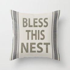 Bless This Nest Throw Pillow