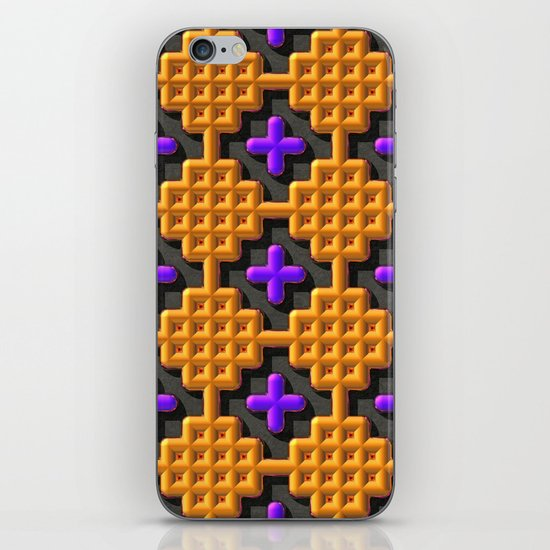 """Cross Stitch"" iPhone & iPod Skin"