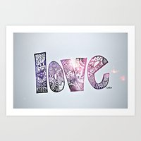 Love Is All You Need. (g… Art Print
