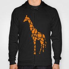 Modern Orange Giraffe Hoody