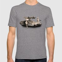 2 Stormtrooopers In A Ho… Mens Fitted Tee Tri-Grey SMALL