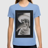 the doctor inverted Womens Fitted Tee Tri-Blue SMALL