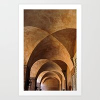 Symmetrical Ceiling In R… Art Print