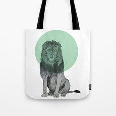 sitting lion Tote Bag