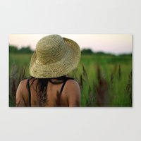 Girl's Summer Evening I… Canvas Print