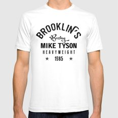 Iron Mike Tyson Mens Fitted Tee White SMALL