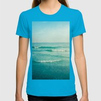 only this moment 2 Womens Fitted Tee Teal SMALL